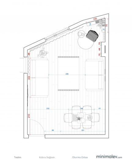 kübra sağlamteslim - Sheet - 2 - Kat Planı